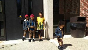 Even children attended the African Student's Club's fashion show