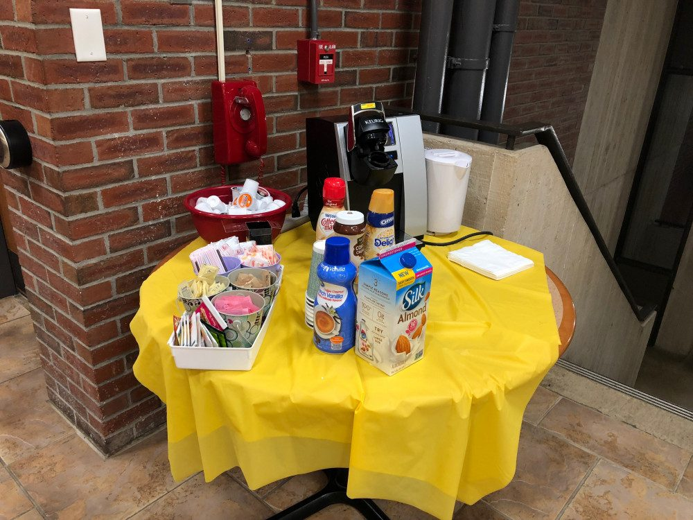 a refreshment table