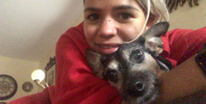 Cindy Mejia and her dog Coco
