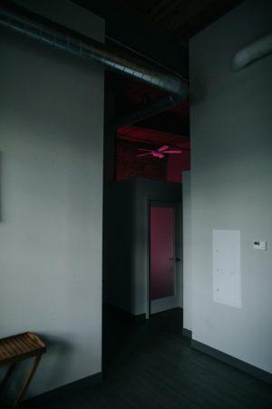 Photo of bedroom door in apartment
